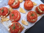 Amaranth & Halloumi Stuffed Tomatoes