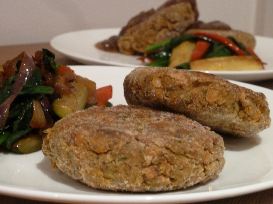 Gingered Up Lentil & Chickpea Patties