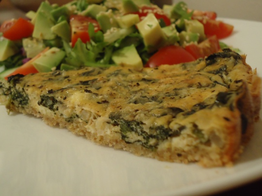 Oat Crusted Spinach & Feta Flan