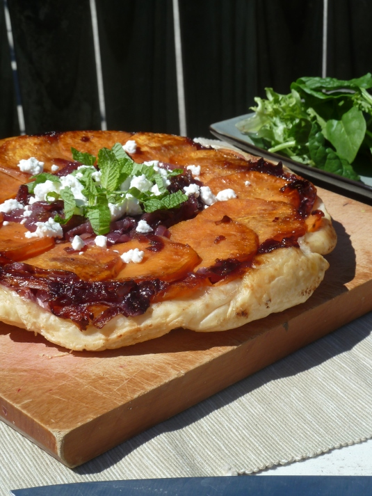 Sweet Potato & Caramelised Onion Tarte Tatin