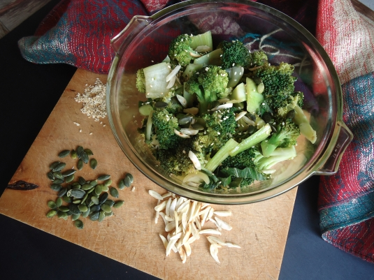 Broccoli Salad with Asian Style Dressing
