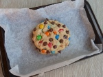 Colossal Peanut Butter M&M Cookie
