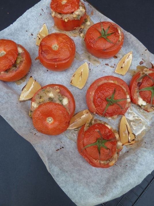 Amaranth & Haloumi Stuffed Tomatoes