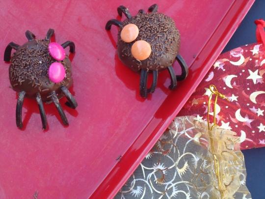 Spooky Spider Cake Balls