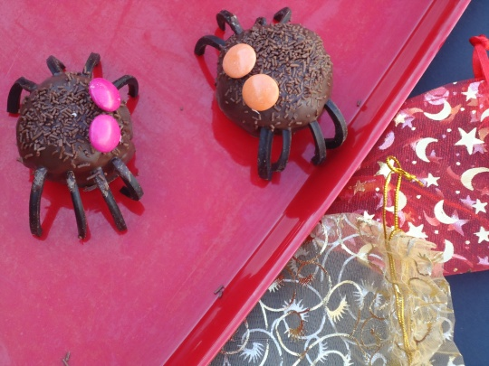 Spooky Spider Cake Balls
