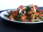 Fried Tofu Salad with Chilli Peanut Sauce