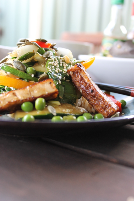 Get Your Greens Egg Fried Rice with Tofu