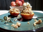 Crumble Topped Nectarine For Two
