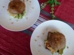 Mushroom, Haloumi & Avocado Stack with Pesto