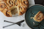 Apple Pecan Cinnamon Rolls with Maple Cream Cheese Glaze