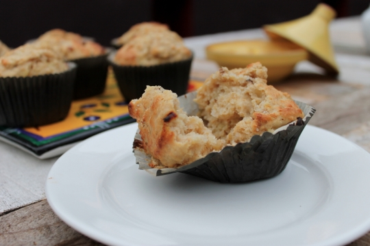 Banana, Date & Walnut Muffins