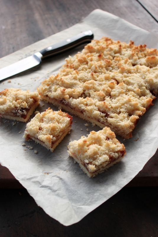 Coconut Jam Slice