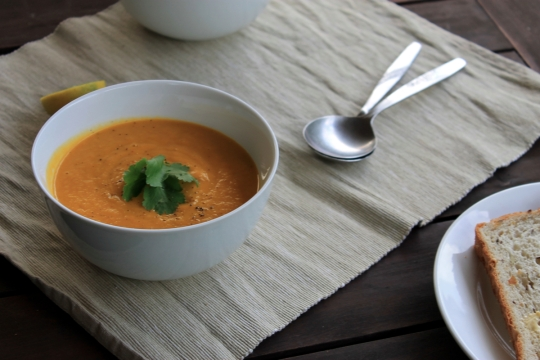 Carrot, Coconut & Coriander Soup
