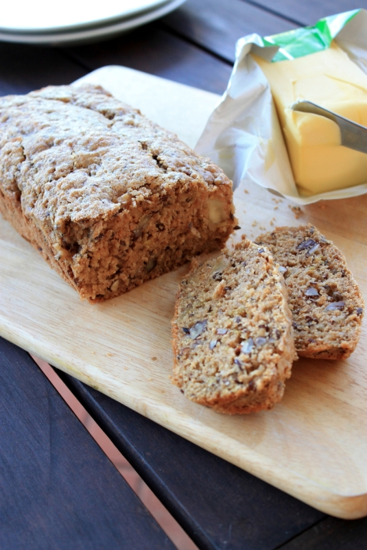 Apple Pecan Flaxseed Loaf