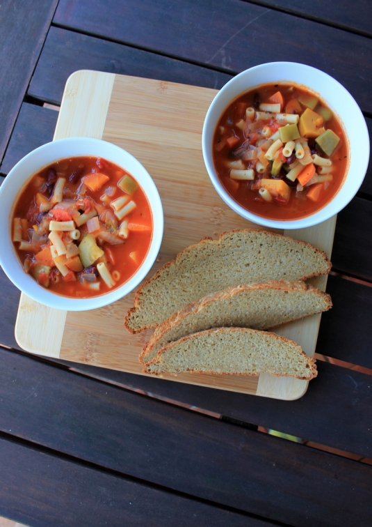 Chunky Vegetable, Bean & Pasta Soup