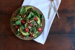 Strawberry, Asparagus, Avacado & Almond Salad