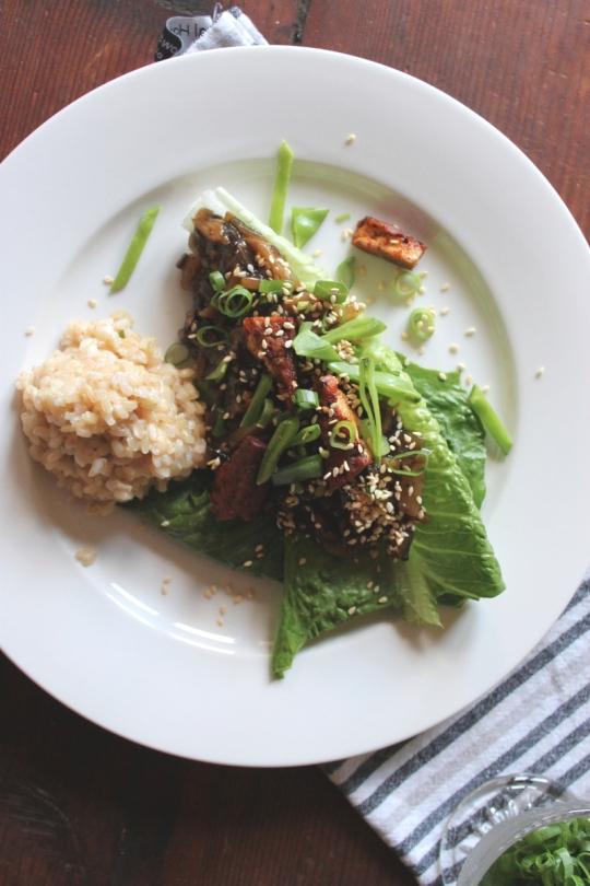 Mushroom Sang Choy Bow