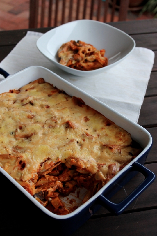 Lentil & Vegetable Pasta Casserole