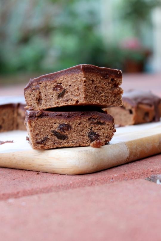 Chocolate Sultana Slice