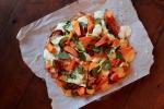 Pumpkin, Zucchini, Sundried Tomato, Spinach, Ricotta & Bocconcini Pizza